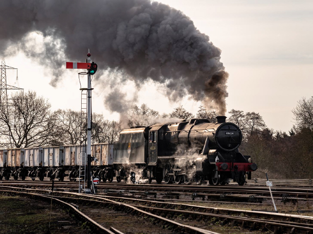 Passing Freights, two Stanier 8F's on the GCR Mainline