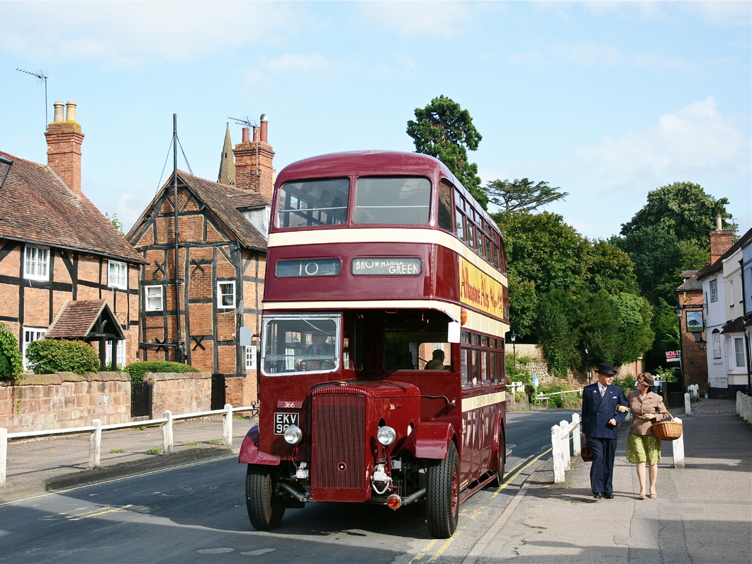 Join us for a day's vintage transport photography in and around Coventry with two historic vehicles