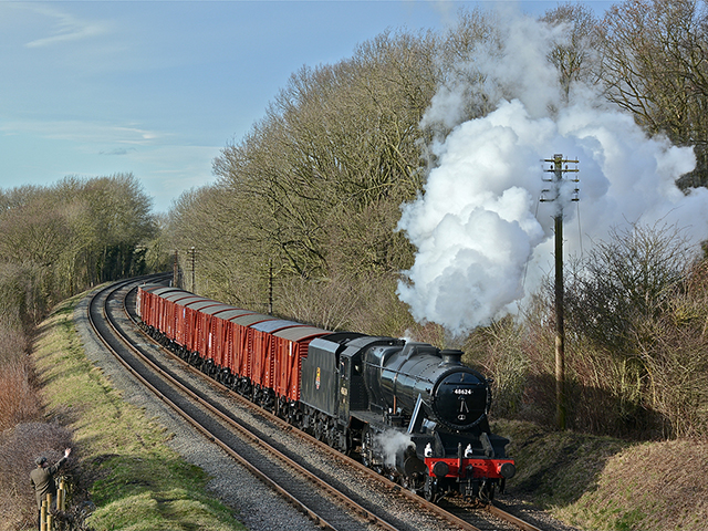 A full day of photography at the GCR using 8F Class 48305 at the head of a lengthy mixed goods train