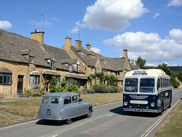 Join us for a day in the picturesque Cotswolds with 2 beautifully restored 1953 Royal Blue coaches