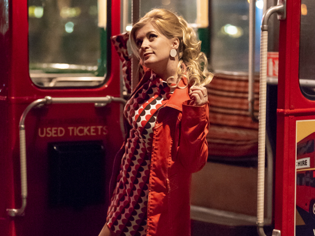 The swinging 60's in London are back for a night of posing and fun with a vintage bus!