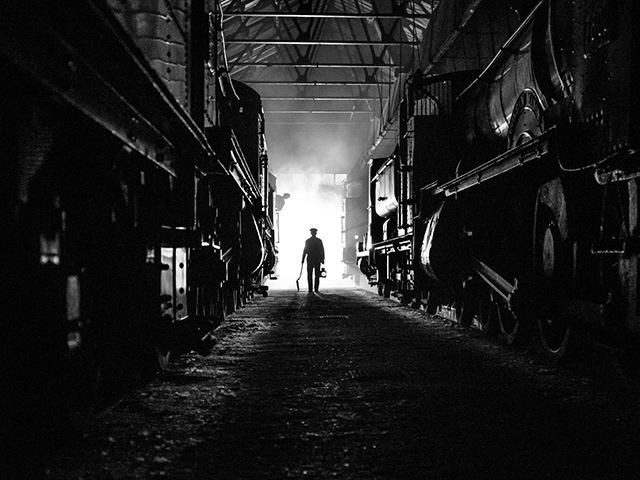 A Steamy evening inside the Shed at Didcot Railway Centre