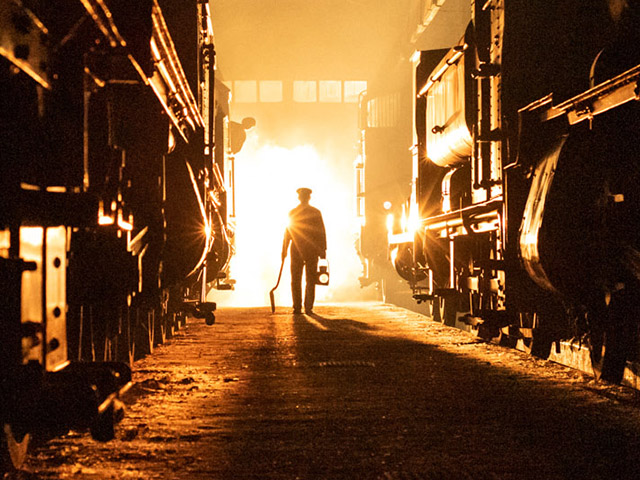 A Steamy winters evening inside the Shed at Didcot Railway Centre