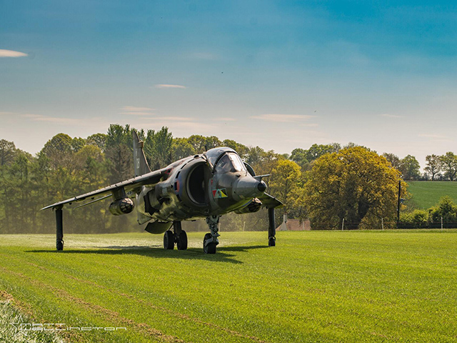 An afternoon, sunset and night shoot with a GR3 Harrier