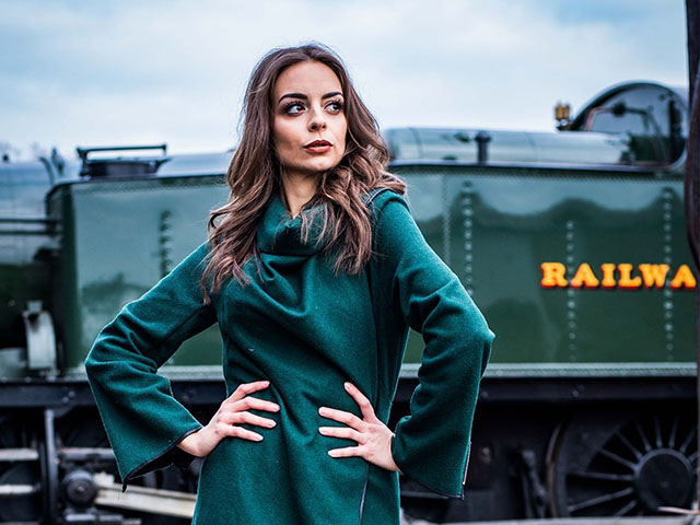 A day of contemporary fashion & portraits at the Mid Suffolk Railway