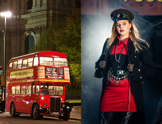 Steampunk on the buses in London!