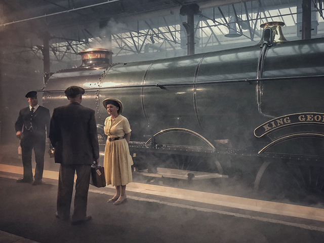 A star-studded cast of GWR locos brought to life using smoke machines, subtle lighting and re-enactors