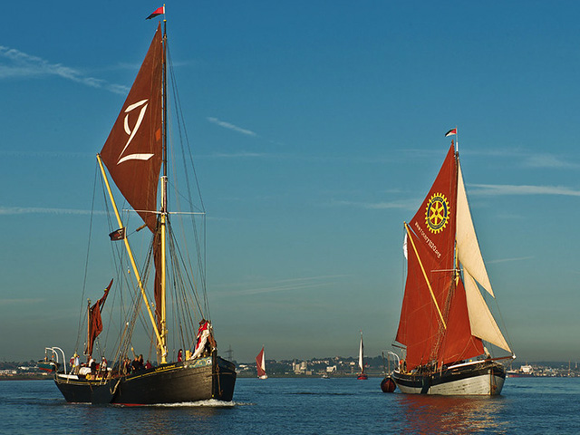 The Thames Sailing Barge Match (Races) plus Thames Forts