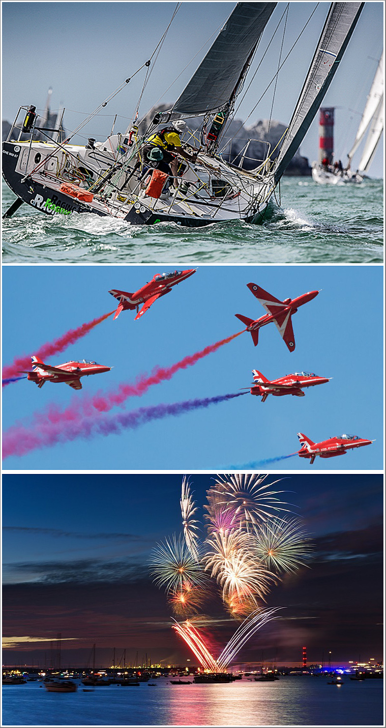 A day & evening on the Solent photographing the competitors during Cowes Regatta, followed by the Red Arrows & Cowes Fireworks, Friday 16th August 2019