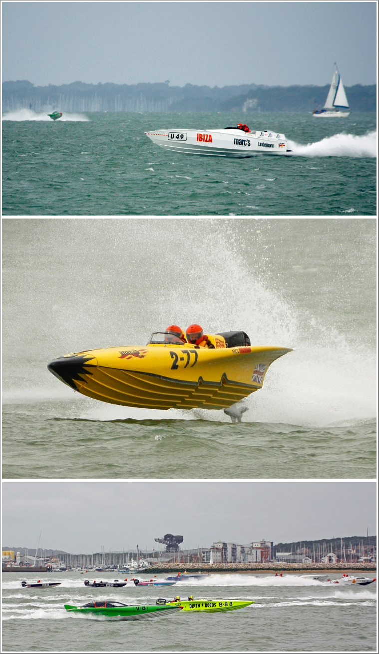 A day's photography full of adrenaline capturing British Offshore Powerboat Racing on the Solent, Sunday 25th August 2019