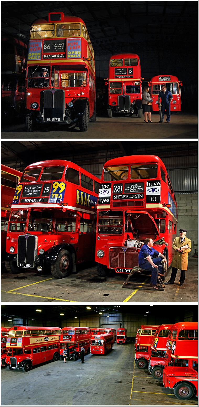 Recreating the sights and sounds of a traditional London Bus Garage, Saturday 9th February 2019