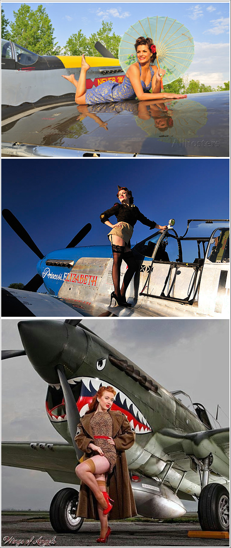Recreating those Pin Up shots of the 1940's with WWII Fighter Planes, Thursday 13th June 2019, 12:00-14:30