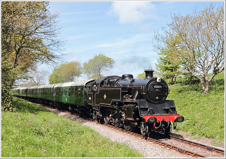 Join us for a full day of photography at the Swanage Railway featuring BR 4MT Standard Tank No.80104, Monday 25th February 2019