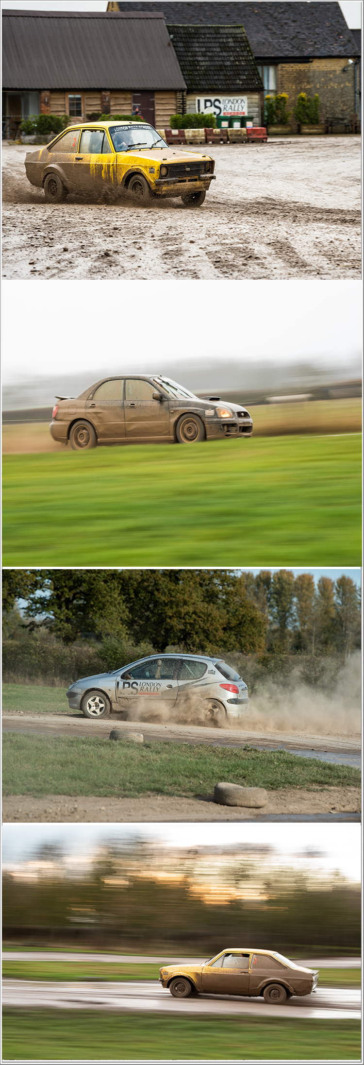 Learn how to capture fast paced action with Rally Cars at the London Rally School, Friday 1st March 2019