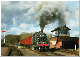 ***SOLD OUT***<br/><br/>BR Standard No.78018 on her first GCR charter appearance, Wednesday 31st January 2018