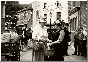 An evening event at Blists Hill recreating scenes reminiscent of the 1900s in a fine period setting, Saturday 28th July 2018