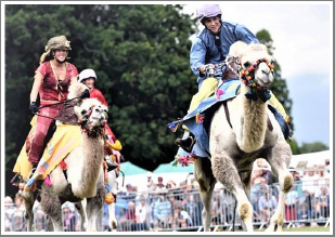 Join us for an afternoon of colourful costume and the rare spectacle of camel racing in Warwickshire, Wednesday 8th May 2019