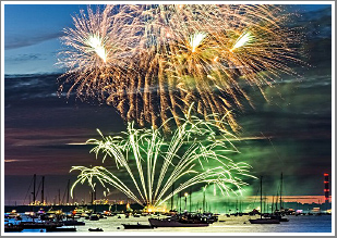 A day & evening on the Solent photographing the Cowes Regatta, followed by Red Arrows Fireworks