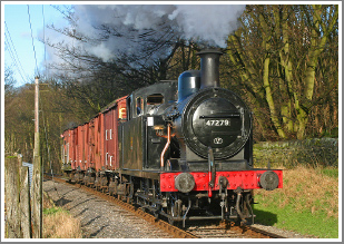 A full day and evening event at the former SDJR Midsomer Norton site using visiting BR black 3F No.47406, Friday 23rd March 2018