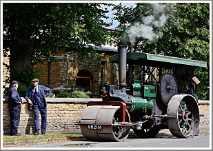 A feast of road steam action using the array of rollers based at Market Harborough in Leicestershire, Saturday 12th May 2018