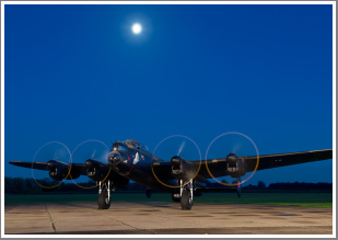 Lancaster Bomber Just Jane Sunset run and Night Shoot, Saturday 27th April 2019