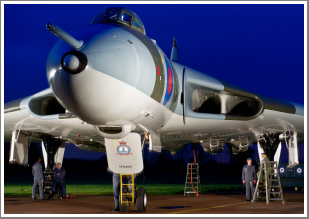 Avro Vulcan B.Mk2 XM655 Sunset & Night Shoot at Wellesbourne, Warwickshire, Saturday 12th October 2019