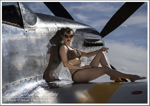 Recreating those Pin Up shots of the 1940's with WWII Fighter Planes, Friday 1st June 2018
