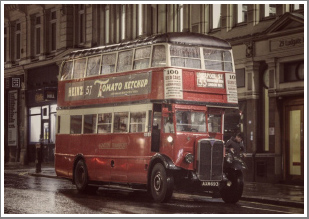 The Night Buses, out and about on the streets of London after dark, Sunday 8th April 2018