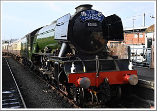***SOLD OUT***<br/><br/>The Morning Scotsman, an early morning with 'A3' Class 4-6-2 No.60103 at Didcot Railway Centre, Sunday 27th August 2017