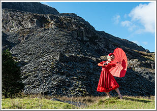 A day capturing fashion and miner portraits amongst the waterfalls and old mine ruins of Cwmorthin slate Quarry, Tuesday 28th May 2019