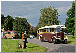 A day recreating rural scenes of yesteryear with two beautiful 1950s vintage single-decker coaches, Tuesday 30th July 2019
